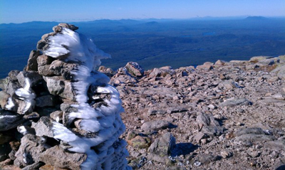 Cullen Thomas from atop Mt. Katahdin